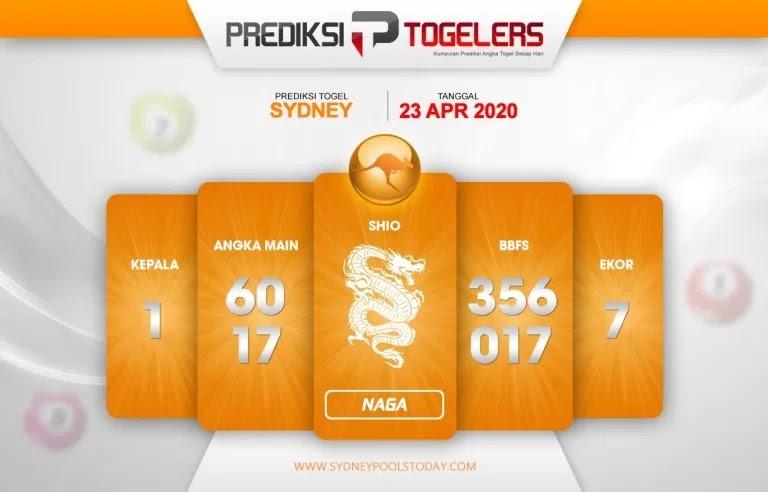 Prediksi Togel Sidney Kamis 23 April 2020 - Prediksi Togelers Sidney