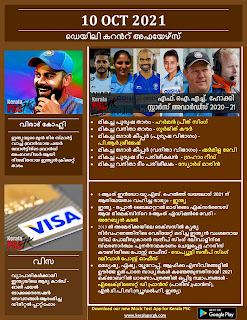 Daily Malayalam Current Affairs 10 Oct 2021