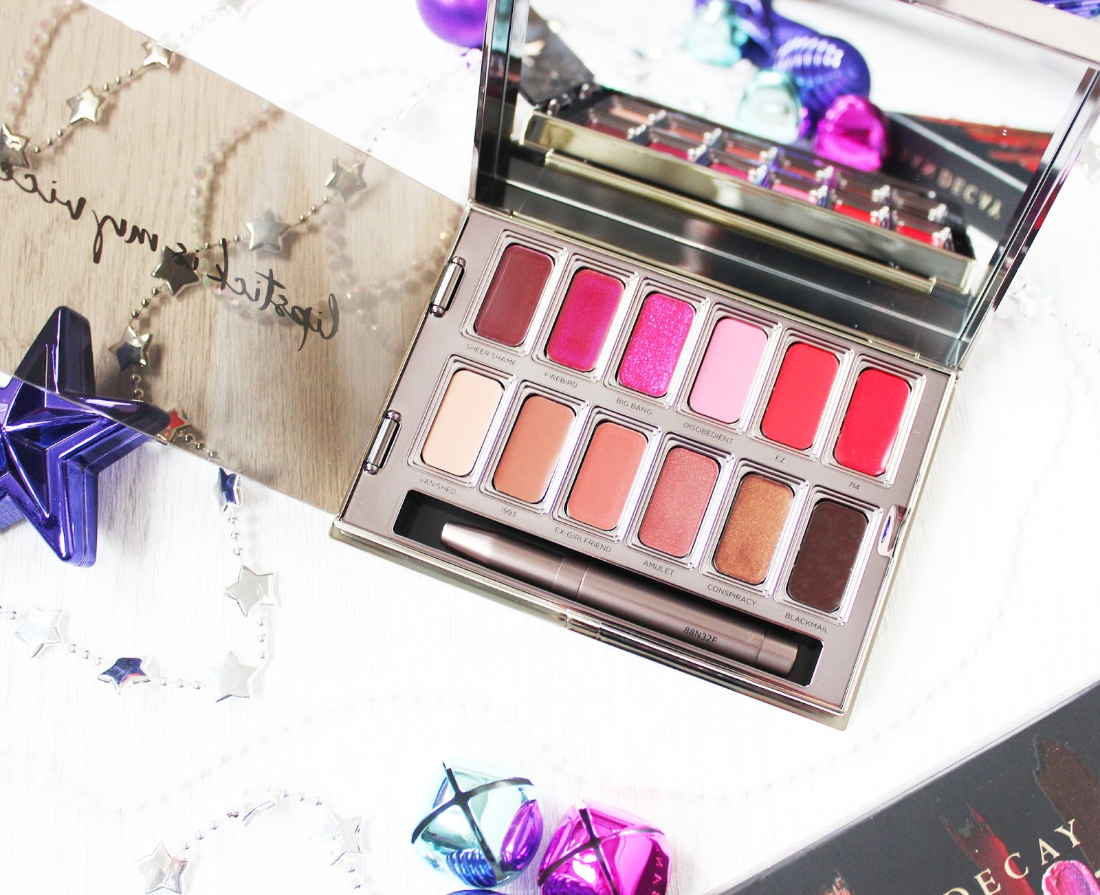 Urban Decay Blackmail Vice lipstick palette review