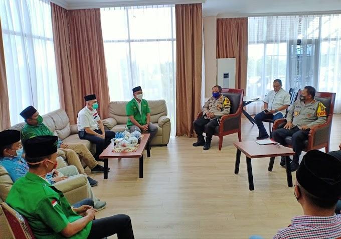Silaturahmi GP Ansor - Polda Kepri, Sinergi Jaga NKRI