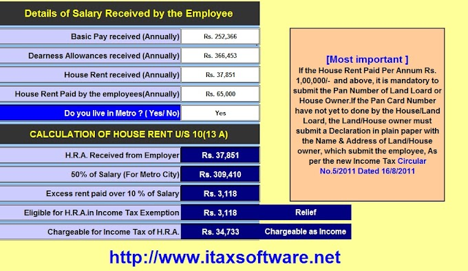 Automated Income Tax Prepare Excel Based Software for F.Y.2018-19 with Important Changes in Tax Rules from FY 2018-19