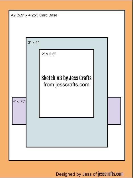 Card Sketch #3 by Jess Crafts