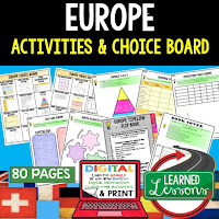 Europe Geography Activities, World Geography Graphic Organizers, World Geography Digital Interactive Notebook, World Geography Summer School, World Geography Google Activities