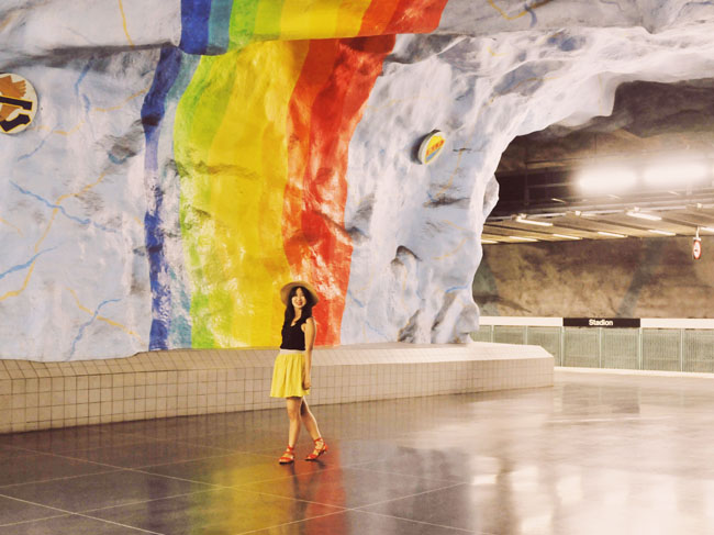 Best Stockholm Instagram Spots - subway art Stadion