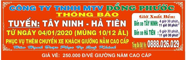 Xe Tây Ninh Hà Tiên