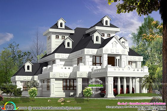 Awesome luxury 5 bedroom house architetcure