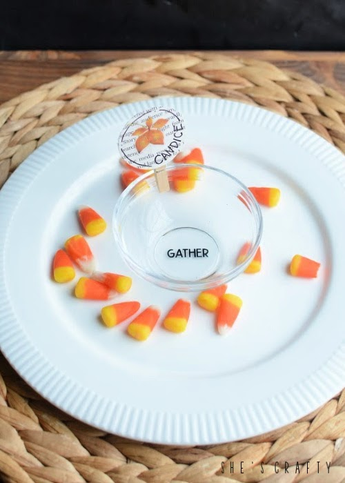 Thanksgiving Place Cards and Appetizer Bowls