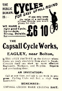Capsall Cycle Works Advertisement 1909