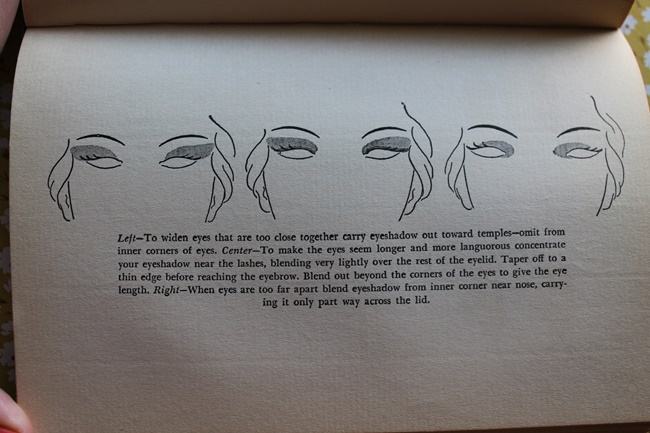 1930s vintage hair and makeup tips and eyeshadow instructions from Helena Rubenstein via VaVoomVintage.net