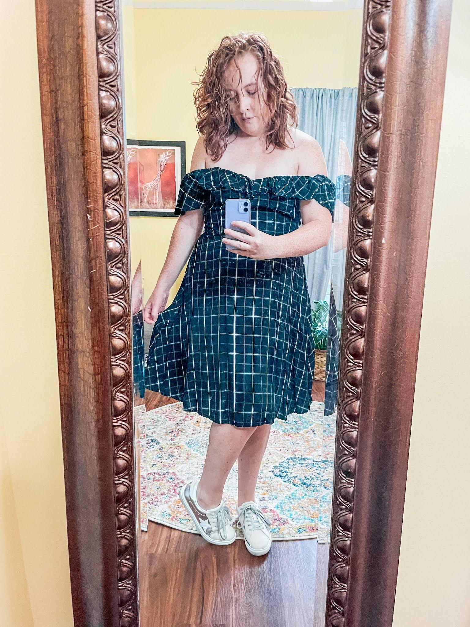 plaid-dress-sneakers