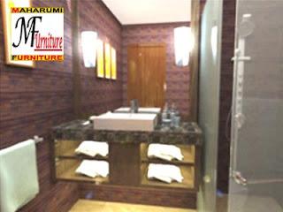 workshop custom setting interior furniture - Kamar Mandi Bath Room Wastafel - Maharumi Furniture