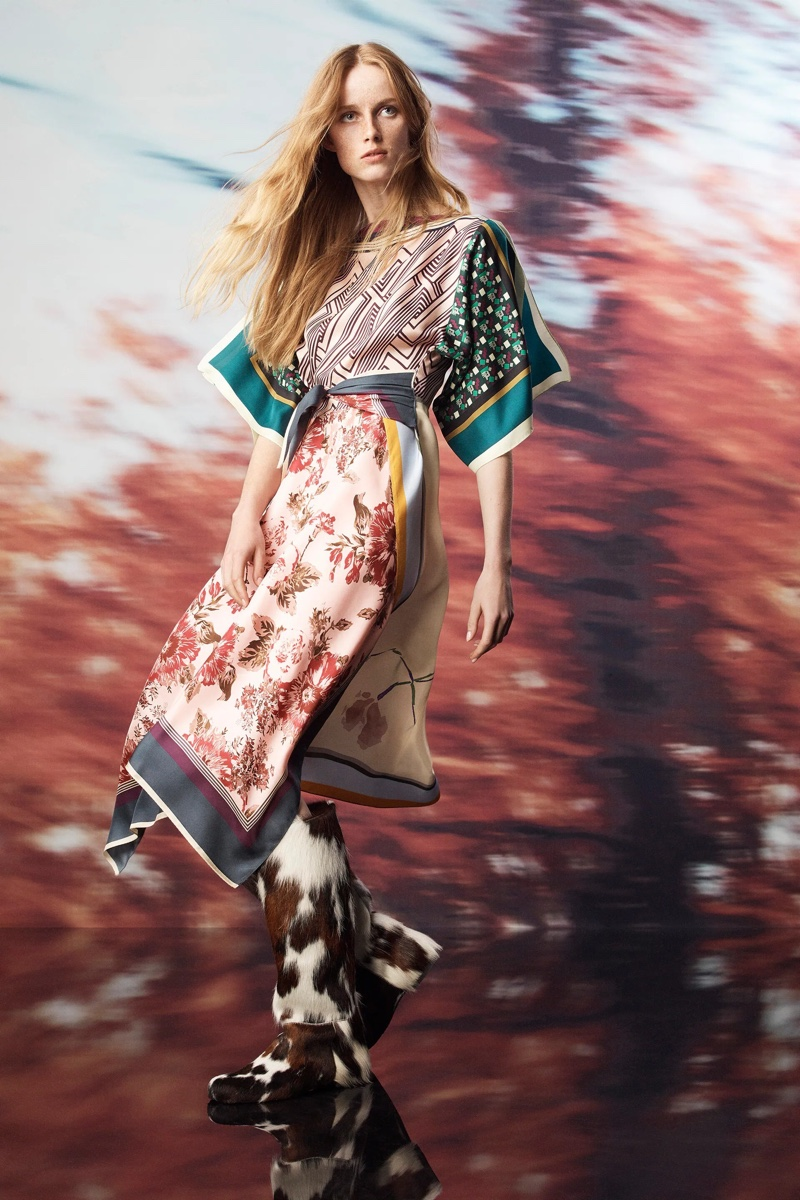 Zara features bold prints in its limited edition Scarf Collection.