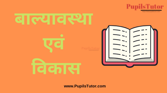 (बाल्यावस्था एवं विकास) Childhood and Growing Up Book, Notes and Study Material in Hindi Medium Free Download PDF for B.Ed 1st & 2nd Year & All Course   Childhood and Growing Up PDF Book in Hindi   Childhood and Growing Up PDF Notes in Hindi   Childhood and Growing Up PDF Study Material in Hindi for B.Ed