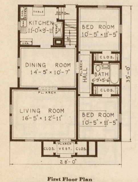 sears catalog 1930 floor plan