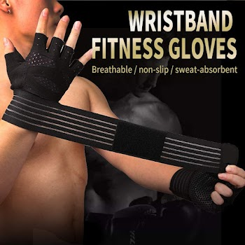 60% off Version Professional Weight Lifting Gym Workout Gloves with Wrist Wrap Support for Men & Women