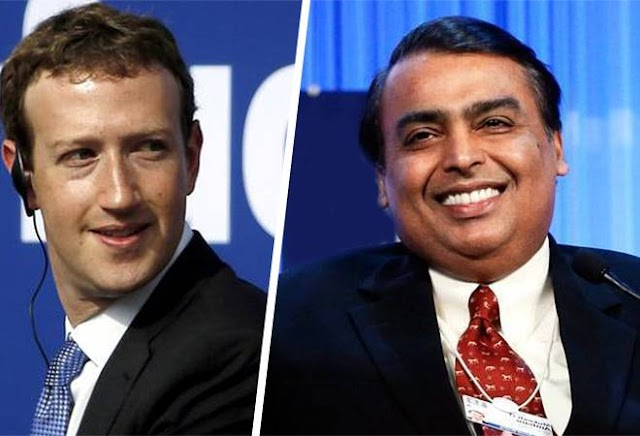 Facebook invests $5.7 billion in Reliance Jio for 9.9% minor stake