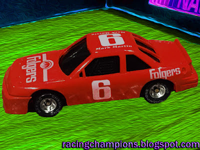 Mark Martin #6 Folgers Racing Champions 1/64 NASCAR diecast blog Custom Prototype Never Released