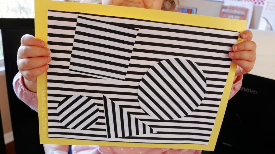 easy op art for kids printable