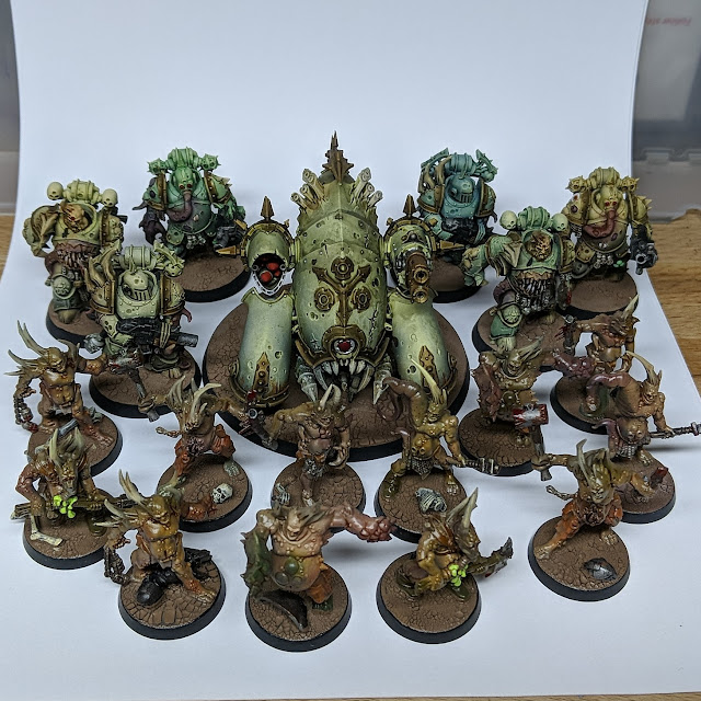 Death Guard painted and ready for war. More to come as the magazine continues to arrive.