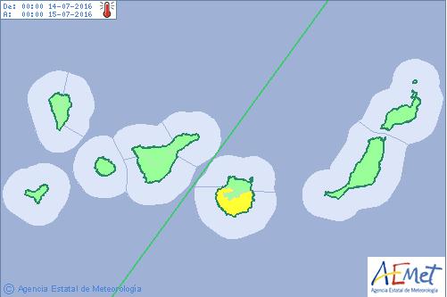 Gran Canaria en aviso amarillo por calor 14 y 15 julio
