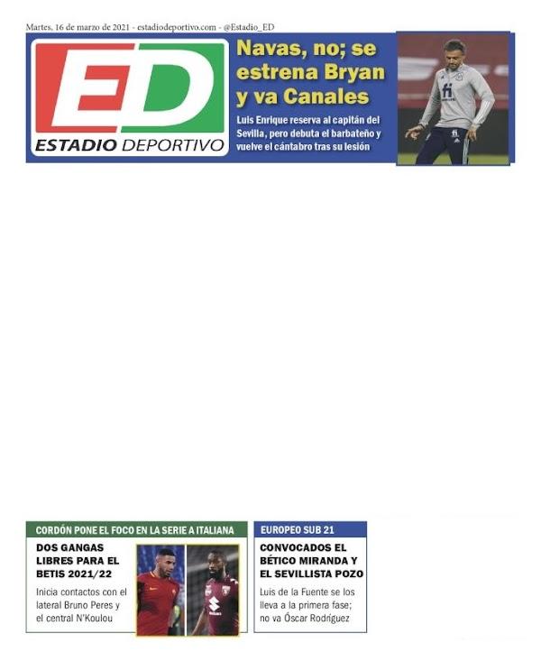 """Estadio Deportivo: """"Dos gangas libres para el Betis 2021/22"""""""