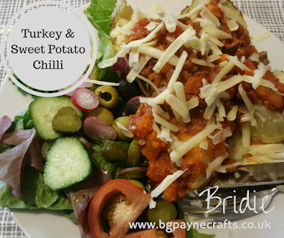 http://bgpaynecrafts.blogspot.com/2017/06/turkey-and-sweet-potato-chilli-recipe.html