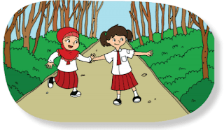 Dayu ke sekolah berjalan kaki www.simplenews.me
