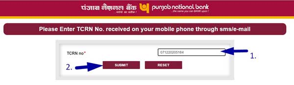 pnb tcrn number