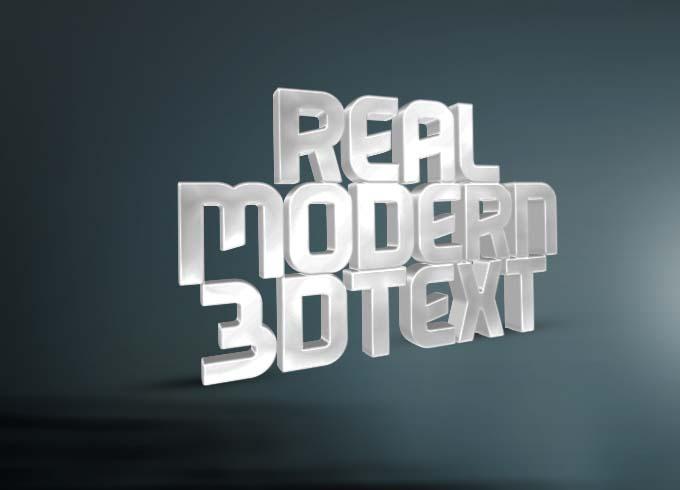 Clean 3D Text Mockups