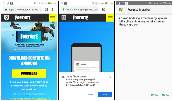 Cara Download Fortnite Mobile di Android Terbaru 2019