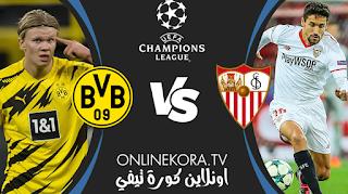 مشاهدة مباراة بوروسيا دورتموند وإشبيلية بث مباشر اليوم 09-03-2021 في دوري أبطال أوروبا