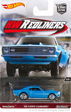 hot wheels copo camaro redliners 2017