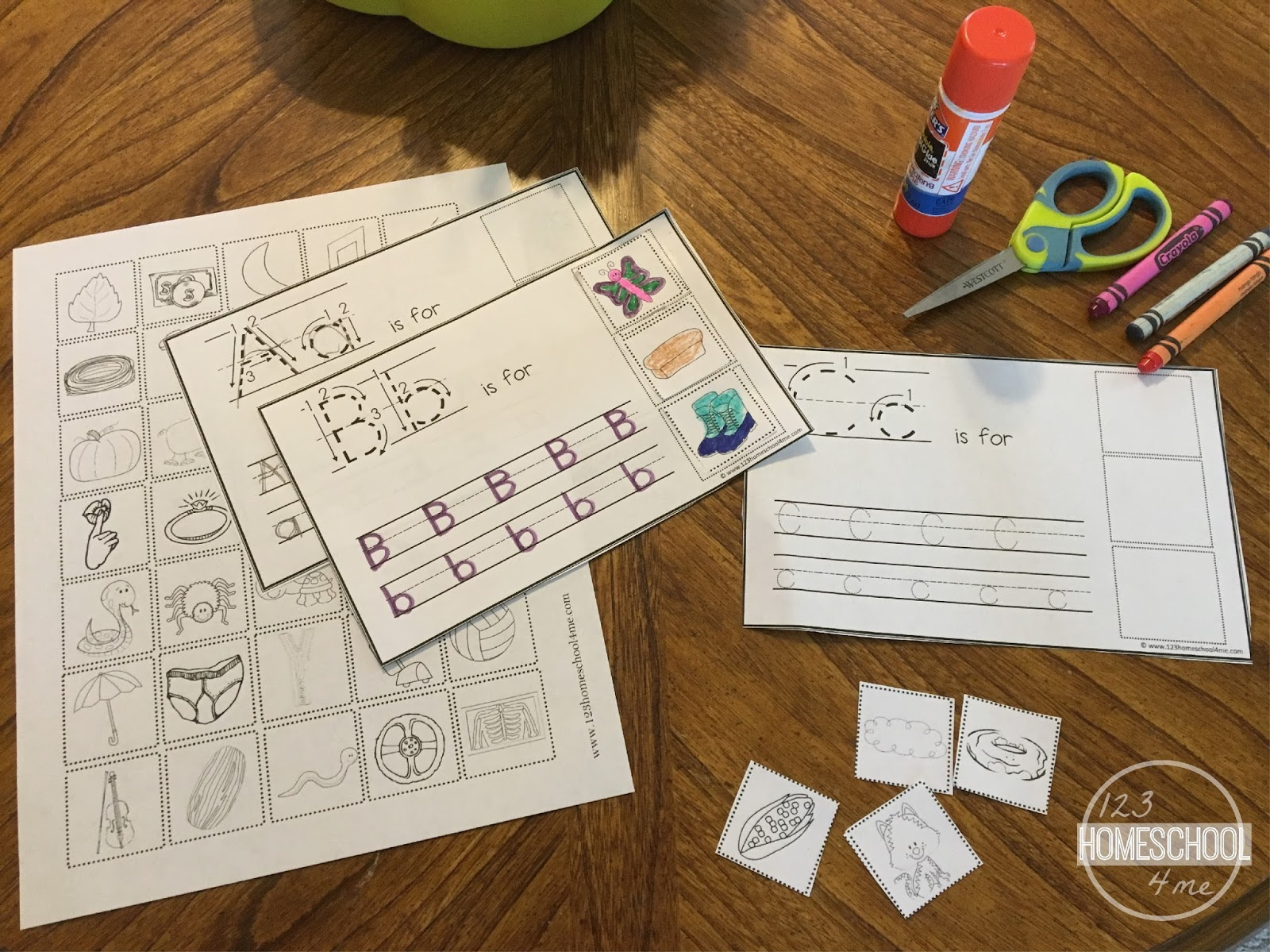 Worksheets Cut And Paste Alphabet Worksheets cut and paste alphabet book with writing practice worksheets