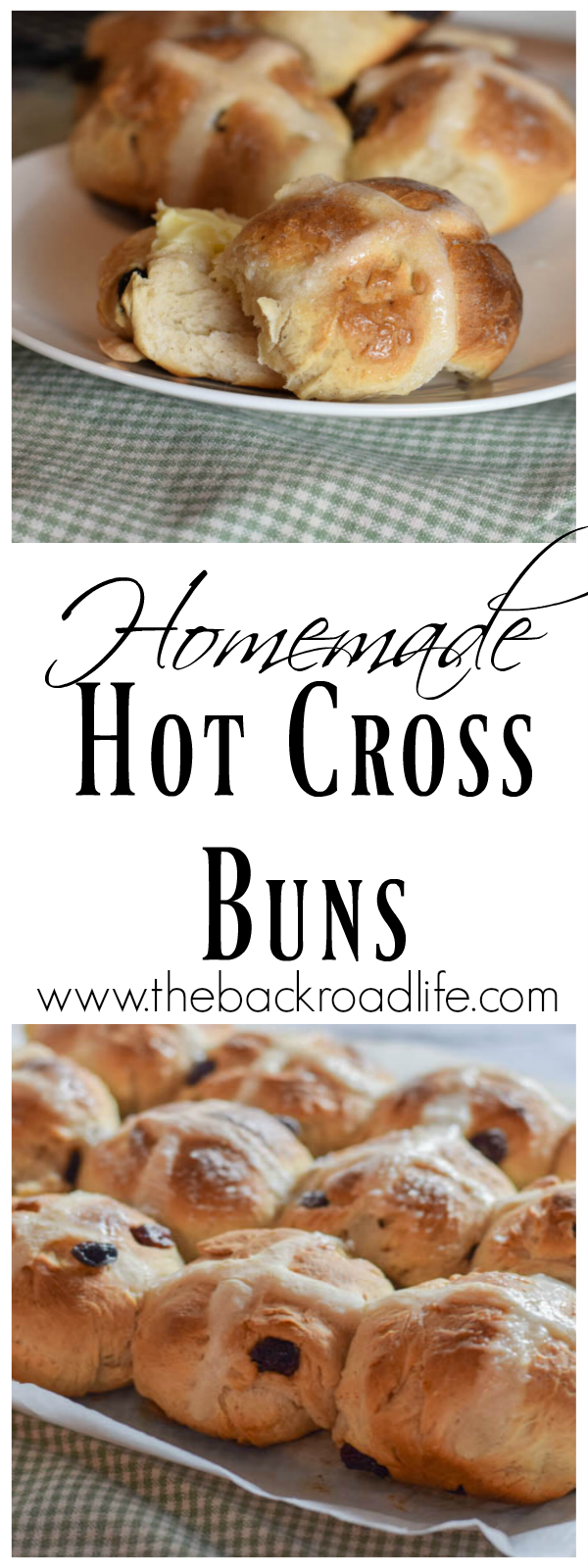 Traditional homemade Hot Cross Buns. Easy recipe using raisins and cinnamon, nutmeg, and ginger. Perfect for Easter