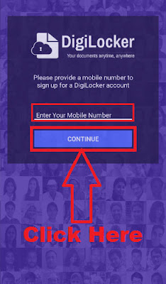 how to create account in digilocker through digilocker app