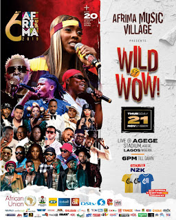 30 African Superstars To Perform At 6th AFRIMA Music Village On Nov 21st