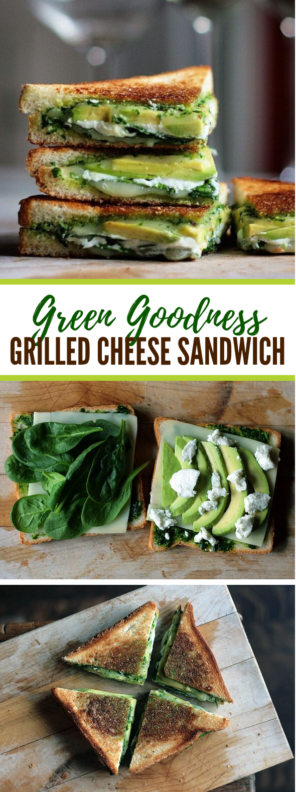 Green Goddess Grilled Cheese Sandwich #vegetarian #healthy