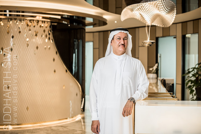 Corporate portrait of CEO and Chairman Hussein Sajwani by Siddharth Siva, Dubai photographer