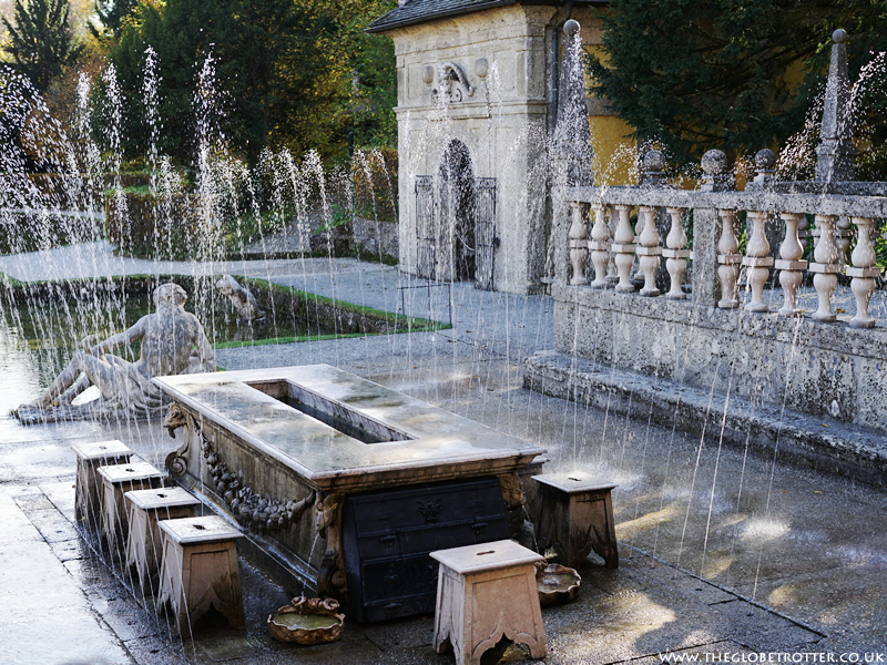 Hellbrunn Palace & Trick Fountains in Salzburg, Austria