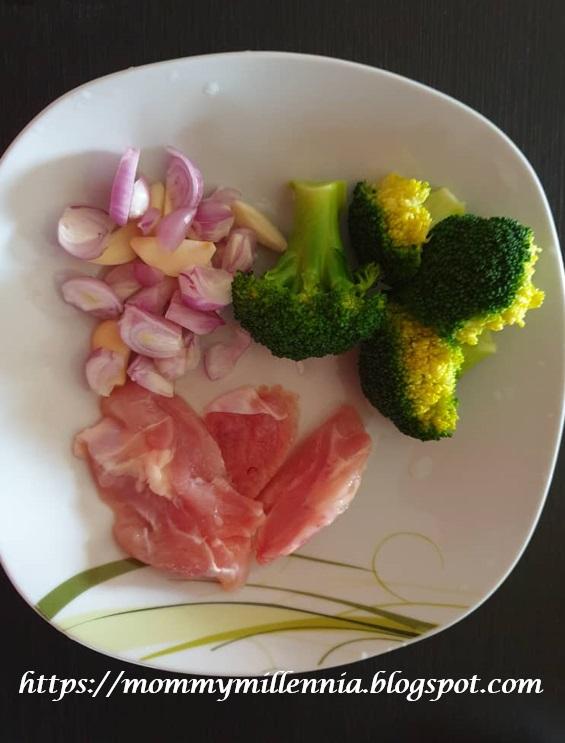 bubur brokoli dengan ayam