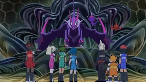 Pokémon Sol y Luna Ultra Aventuras Capitulo 46 Temporada 21 El prisma entre la luz y oscuridad