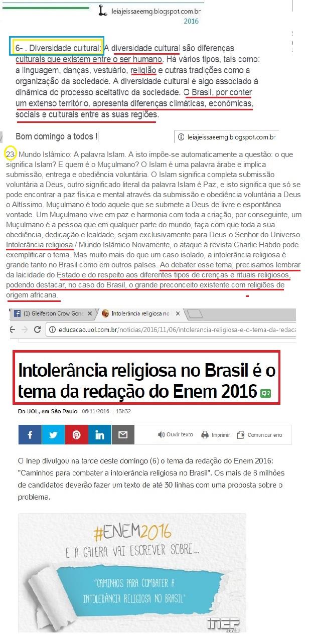 Intoler ncia religiosa no brasil o tema da reda o do enem 20162 do uol em s o paulo 06 11 201613h32
