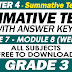 GRADE 3 - 4TH QUARTER SUMMATIVE TEST NO. 4 with Answer Keys (Modules 7-8)