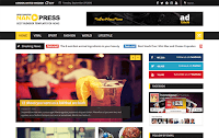 Download Nanopress Responsive News/Magazine Blogger Template Gratis Premium