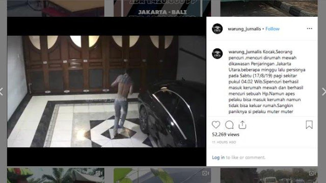 Video Viral Pencuri Berlarian di Rumah Korban, Bingung Cari Jalan Keluar saat Diteriaki Maling