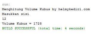 Menghitung volume kubus