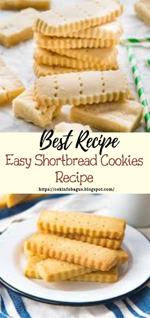 Easy Shortbread Cookies Recipe #desserts #cakerecipe #chocolate #fingerfood #easy