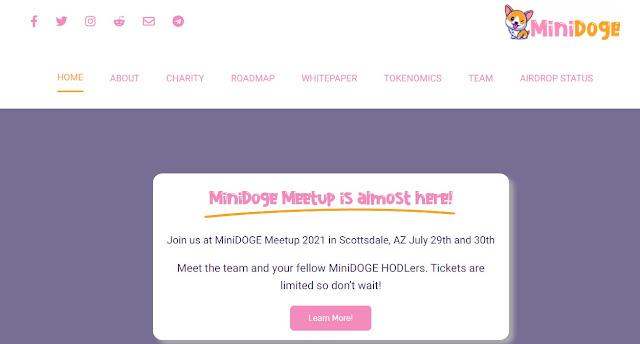 Screenshot Halaman Website MiniDoge (MINIDOGE)