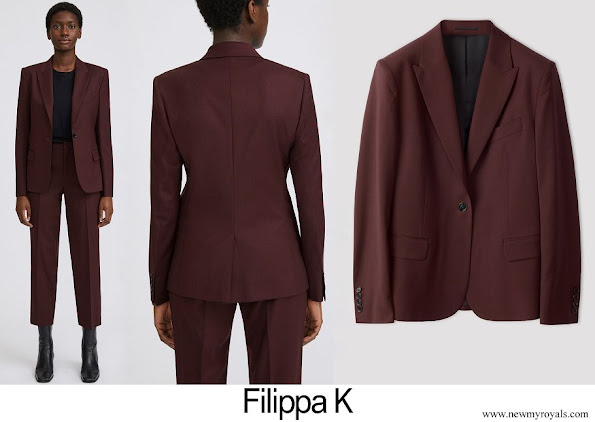 Crown Princess Victoria wore Filippa K Sasha Cool Wool Blazer