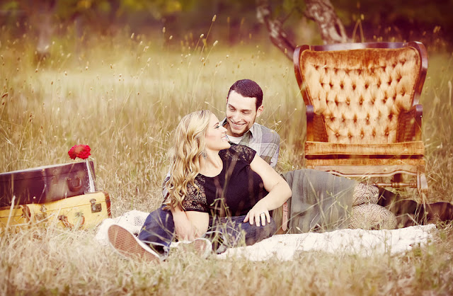 vintage inspired Napa engagement session | photos by Lauren Guinn